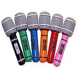 Tinksky 6pcs Inflatable Plastic Microphone 33CM...