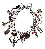 The Walking Dead TV Series Assorted Themed Silvertone Charm Bracelet
