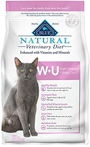 Blue Buffalo Natural Veterinary Diet Weight Management + Urinary Care for Cats 16Lbs