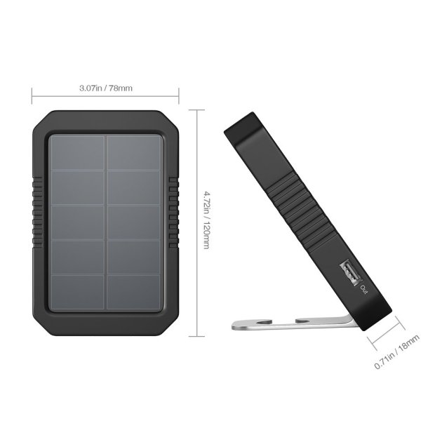 dodocool ソーラーバッテリー チャージャー 、4200mAh ソーラー充電器 ポータブル USBソーラーモバイルバッテリー 4 LED 懐中電灯 付き IOS とAndroid に対応