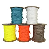 SGT KNOTS Spectra Cord (1.8mm) Speargun Line - Fishing Line - All-Purpose Utility Cord - for Tie-Downs, Gear Bundles, Boot Laces, Camping, Survival, Marine, More (300 Feet Spool - Neon Orange)