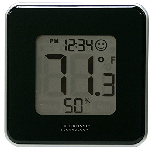 La-Crosse-Technology-302-604B-Black-Indoor-Digital-Thermometer-Hygrometer-Station-with-MINMAX-records-Comfort-level-icon