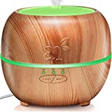 ArtNaturals Aromatherapy Essential Oil Diffuser – (5.0 Fl Oz / 150ml Tank) – Ultrasonic Aroma Humidifier - Adjustable Mist Mode, Auto Shut-Off and 7 Color LED Lights – for Home, Office & Bedroom