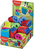 Maped Boogy 2 Hole Canister Pencil Sharpener - Assorted Colours (Pack of 24) 062211