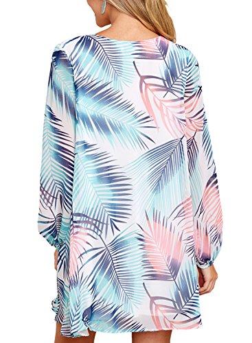 9be7507fe1c Asvivid Women s Summer Halter Neck Floral Print Sleeveless Casual Mini Dress(5  ...
