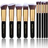 BS-MALL(TM) Makeup Brushes Premium Makeup Brush Set Synthetic Kabuki Cosmetics Foundation Blending Blush Eyeliner Face Powder Brush Makeup Brush Kit (10pcs, Golden Black)