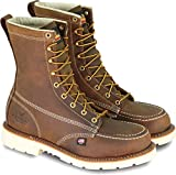 Thorogood 804-4378 Men's American Heritage 8' Moc Toe, MAXWear 90 Safety Toe Boot, Trail Crazyhorse - 10 2E US