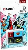 Emtec Super Hero 8GB USB 2.0 2-Pack USB Drives (ECMMD8GC600BSP2)