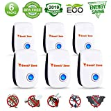 Pest Ultrasonic Repellent 2019, Indoor Pest Reject Repeller Plug in, Best 6 Pack Electronic Pest Control for Rodent, Mice, Rat, Insect, Cockroach, Ant, Spider, Mosquito, Вed bugs