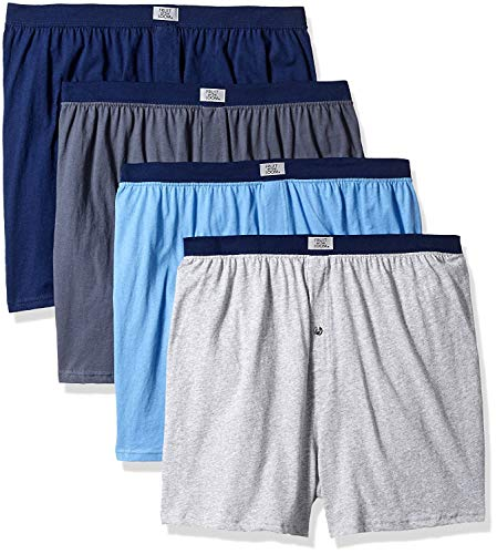 Fruit of The Loom Men's Soft Stretch-Knit Boxer Multipack (XX-Large (44-46), Covered Waistband - Assorted (4 Pack))