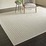 Stone & Beam Casual Geometric Wool Area Rug, 10' 6' x 8', Ivory