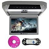 Rockville RVD10HD-GR 10.1' Flip Down Monitor DVD Player, HDMI, USB, Games, LED