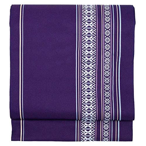 KYOETSU Women's Japanese Kimono Obi Belt Nagoyaobi Washable KS6 (B.purple)