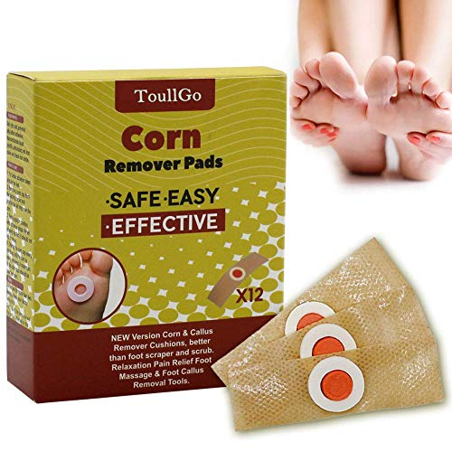 Corn Remover, Foot Corn Remover Pads, Corn & Callus Remover Cushions, Corn Plaster with Hole, It is a Better Solution for People Who Suffer The Pain of Corn, 12 Medicated Pads