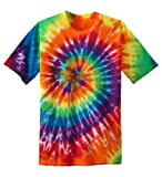 Koloa Surf Co. Youth Colorful Tie-Dye T-Shirt , Youth Small, Rainbow color