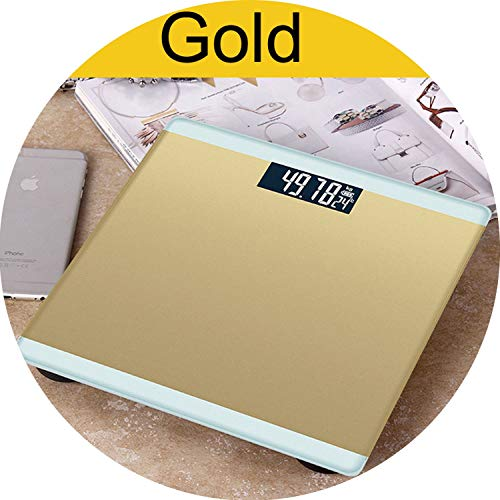 180kg Weight Scale Electronic LCD Display Weights Bathroom Scale Weighing Machine Personal Body Scales 4 Colors Smart Balance,Gold