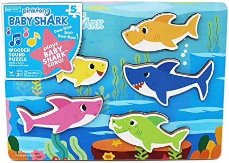 Pinkfong Baby Shark Chunky Wood Sound Puzzle – Plays Baby Shark Song