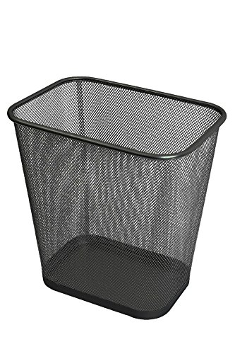 Ybmhome Steel Mesh Rectangular Open Top Waste Basket Bin Trash Can for Office Home 8x12x12 Inches 1103s (1, Black)