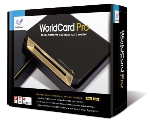 WorldCard Pro Business Card Scanner (Newest Version), Outlook Support, Multiple languages. Bundle with Hot Deals 4 Less Premium Portable Power Backup Charger for ultimate portability.