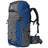 Coreal Unisex 50l Hiking Backpack for Travel Outdoor Sport Camping Trekking Lightweight Navy Blue