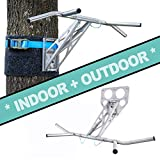 PULLUP & DIP Stainless Steel Pull-up bar (Indoor + Outdoor Package (Wall and Tree/Post mounting))