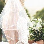 Voile-de-marie-brod-de-ruban-et-Bride-to-be-charpe-Ceinture-en-satin-2-pcs-Accessoires-de-fte-de-nuit-Mariage-Blanc