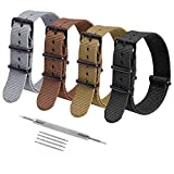 Ritche 4PC 20mm NATO Strap Nylon Watch Band Compatible with Timex Weekender Watch for Men Women