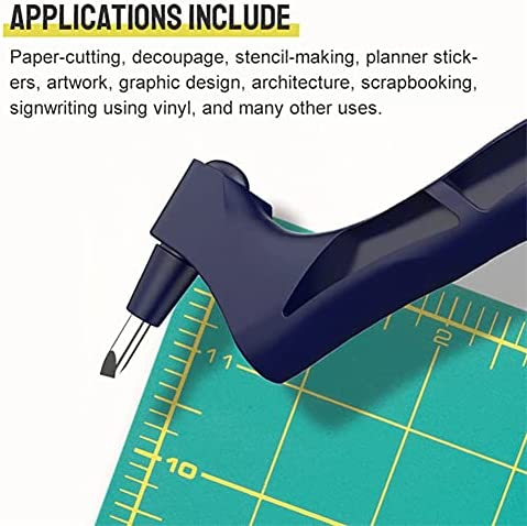 Craft Cutting Tools, Gyro-Cut Craft Cutting Tool, Pen Blade Stainless Steel Craft Knives, Stainless Steel 360-degree Craft Cutting Tools for Craft, Hobby, Scrapbooking, Stencil (Navy Blue)