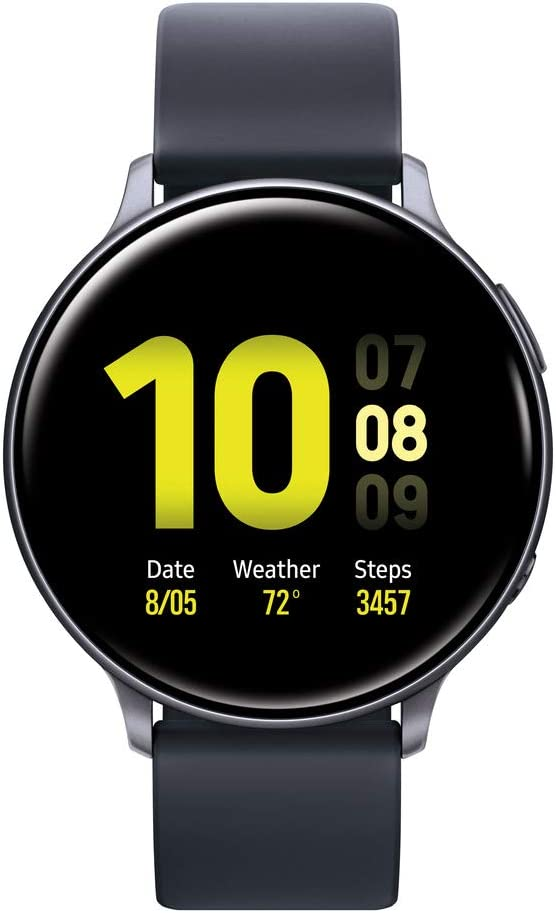 Samsung Galaxy Watch Active2 W/ Enhanced Sleep Tracking Analysis, Auto Workout Tracking, and Pace Coaching (40mm, GPS, Bluetooth), Aqua Black - US Version with Warranty