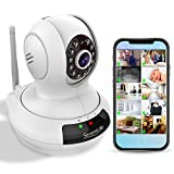 Wireless IP Home Security Camera - High Definition HD 720p Wifi Cloud Cam for Indoor Home Surveillance Video w/ Night Vision - Remote Control PTZ Pan Tilt from Mobile or PC Mac - SereneLife IPCAMHD61