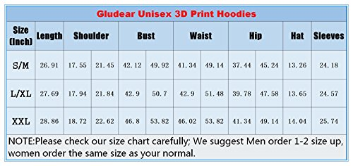 GLUDEAR Unisex Realistic 3D Digital Print Pullover Hoodie Hooded Sweatshirt 16 Fashion Online Shop gifts for her gifts for him womens full figure