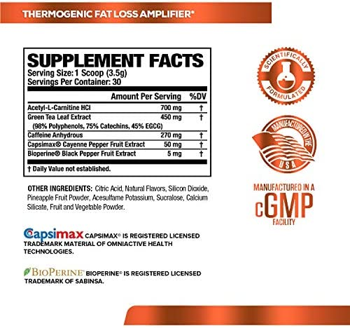 Burn-XT Thermogenic Fat Burner Powder - Weight Loss Supplement, Appetite Suppressant, Pre Workout Energy Booster - Acetyl L Carnitine, Green Tea Extract (EGCG), Capsimax - 30 Sv, Strawberry Lemonade 7