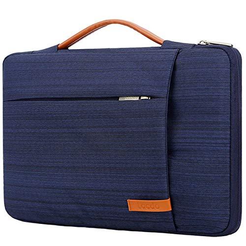 Lacdo 360° Protective Laptop Sleeve Case Briefcase Bag Compatible 15' Apple MacBook Pro Touch Bar 2017-2018 A1707 A1990   15.4 Inch MacBook Pro Retina 2012-2016, ASUS VivoBook S, Inspiron 14 Blue