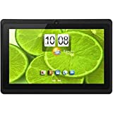iNOVA EX756 7' Tablet PC- Quad Core @ Up To 1.2GHz, ARM Cortex-A9, 512MB DDR3, 8GB ROM Nand Flash, MicroSD Slot (32GB), 800x480 Pixels, 16:9, 5 Point Capacitive Multi-Touch Screen, WiFi, Supports 3G Dongle, G Sensor, 2.0MP Dual Camera, MicroSD Slot, USB OTG, Accessory Kit (BLACK)
