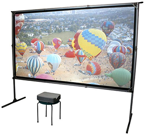 Elite Screens Yardmaster 2 DUAL Projector Screen, 135-INCH 16:9, Front and Rear Wraith Veil Dual 4K / 8K Ultra HD, Active 3D, HDR Ready Indoor and Outdoor Projection Screen, OMS135H2-Dual