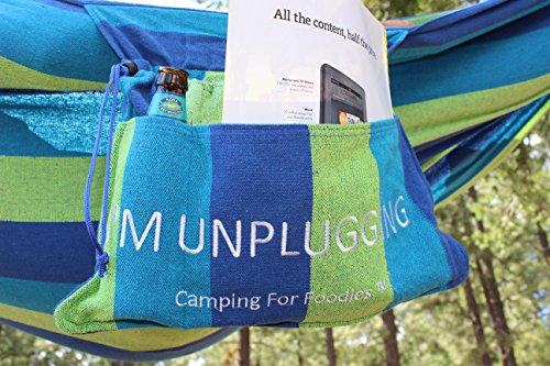 Hammock is great gear for after making this Carrot Cake Oatmeal Camping Breakfast Recipe