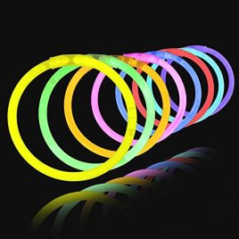 Glow Sticks 100 8″ Light-up Glowstick Bracelets
