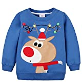 2018 baby toddler girl boy christmas sweater cute cotton pullover sweatshirt 2 3 years