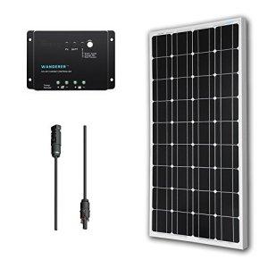 Renogy 100 Watt 12 Volt Monocrystalline Solar Bundle Kit