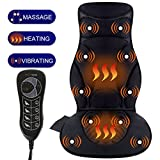 Relief Expert 10-Motor Vibrating Car Seat Back Massager Chair Pad with Heat, 5 Modes for Car, Home, Office Chair