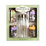 Mighty Leaf Organic Tea Set with Tea Infuser | A Collection of Four Delicious Leaf Organic Teas with an included Tea Infuser