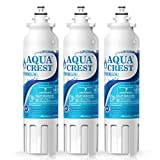 AQUACREST ADQ73613401 Refrigerator Water Filter, NSF 53&42 Certified to Reduce 99% of Lead, Cyst & More, Compatible with LG LT800P, ADQ73613402, Kenmore 9490, 46-9490 (Pack of 3)