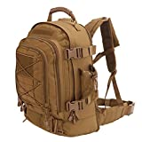 Military Tactical Backpack, Large 3 Day Army Molle Assault Rucksack for Outdoors, Hiking, Camping, Trekking, Bug Out Bag & Travel by ARMYCAMOUSA (Tan)