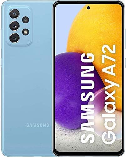 Samsung Galaxy A72 Smartphone ohne Vertrag 6,7 Zoll Infinity-O FHD+ Display, 128 GB Speicher, 5,000 mAh Akku und Super-Schnellladefunktion, blau, 30 Monate Herstellergarantie [Exklusiv bei Amazon]