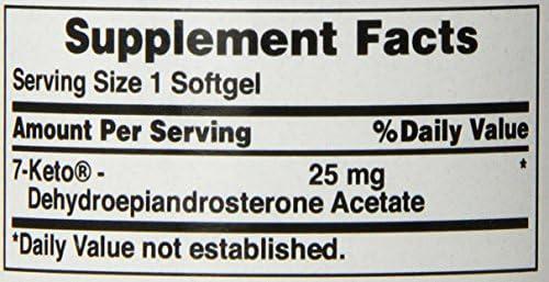Puritan's Pride Rapid Release Softgels, 7-Keto Dhea, 25 mg, 60 Count 6