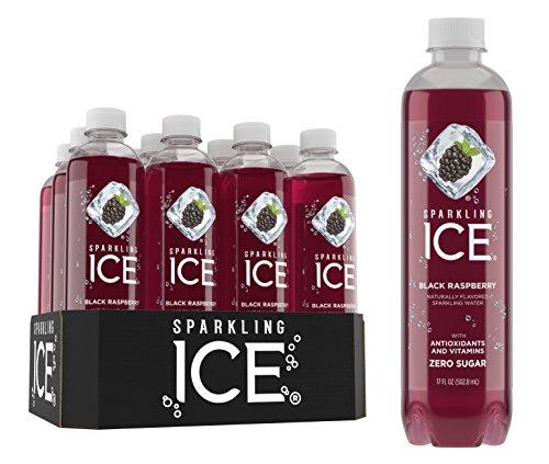 Sparkling Ice Black Raspberry Sparkling Water, with Antioxidants and Vitamins, Zero Sugar, 17  Fl. Oz Bottles (Pack of 12)