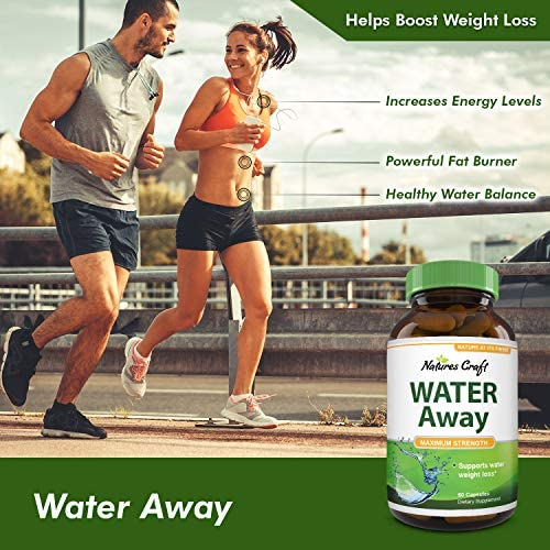 Natural Water Pills - Reduce Excess Water - Weight Loss Appetite Suppressant Benefits - Vitamin B6 Pyridoxine Hydrochloride - Dandelion Root + Pure Green Tea Diuretic for Women & Men 7