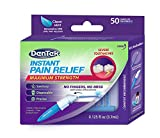 DenTek Instant Oral Pain Relief Maximum Strength Kit for Toothaches | 50 Treatments