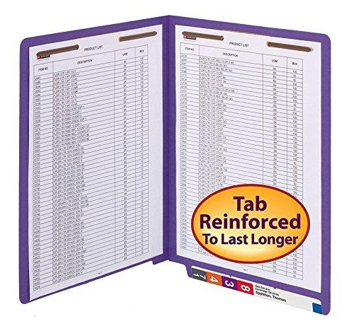 Smead WaterShed/CutLess End Tab Fastener File Folder, Reinforced Straight-Cut Tab, 2 Fasteners, Letter Size, Purple, 50 per Box (25550) deal 50% off 51GUHHRjzvL