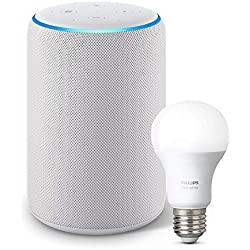 Echo Plus (2nd Gen) with Philips Hue Bulb - Alexa smart home starter kit - Sandstone